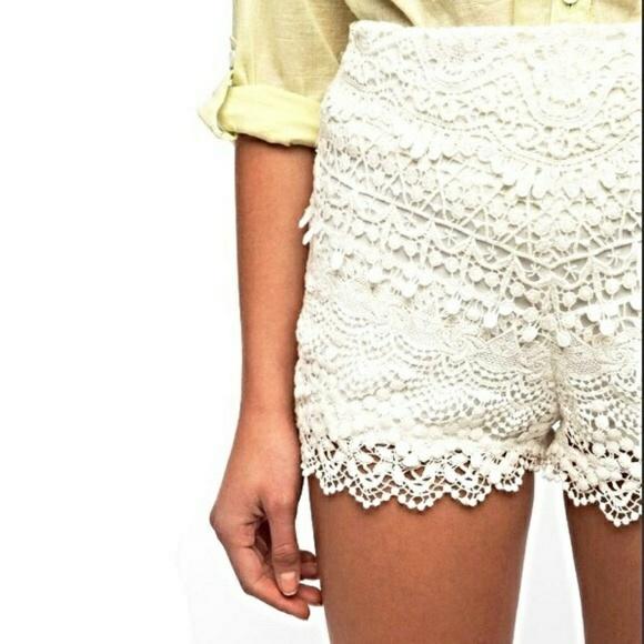Kimchi Blue Shorts White Crochet Poshmark